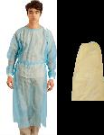 Blouse visiteur en PP 20g/m2, liens cou et taille dans le dos, longueur 115cm, poignets élastique