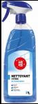 Nettoyant pour vitres et surfaces modernes, Flacon spray 1 litre