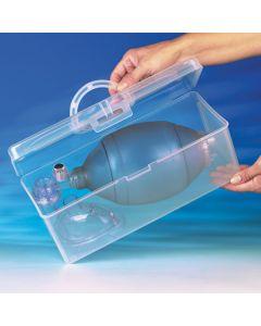 Boîte de transport transparente en PVC pour les insufflateurs