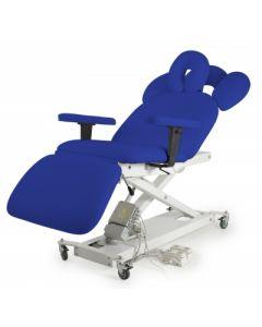 Divan fauteuil 3 panneaux 2 moteurs électriques BLEU