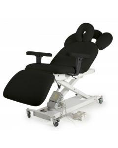 Divan fauteuil 3 panneaux 2 moteurs électriques NOIR
