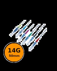 Cathéter court de sécurité Introcan Safety IV 14G 50mm Orange, Boite de 50
