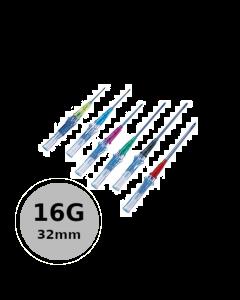 Cathéter court de sécurité Introcan Safety IV 16G 32mm Gris, Boite de 50