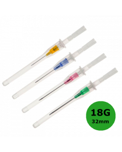 Cathéter court Introcan Certo, 18G 32mm, Vert, B.Braun, la boîte de 50