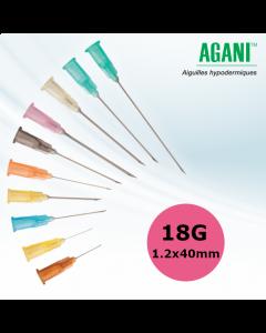 Aiguilles Agani Terumo 18G 1.2x40mm, Rose, Boîte de 100