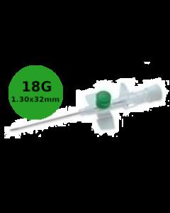 Cathéter à site d'injection à ailettes, VERSATUS W, 18G vert, 1,3x32mm, boîte de 50