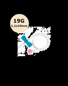 Microperfuseur à ailettes SURFLO, 19G, 1,1 x 19 mm, Crème, Terumo, La boîte de 50