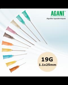 Aiguilles Agani Terumo 19G 1.1x25mm, Crème, Boîte de 100