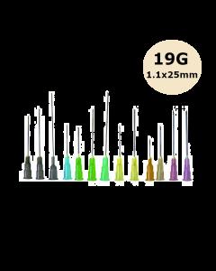 Aiguilles Microlance BD 19G 1,1x25mm Crème, boîte de 100