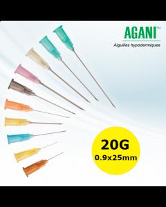 Aiguilles Agani Terumo 20G 0.9x25mm, Jaune, Boîte de 100