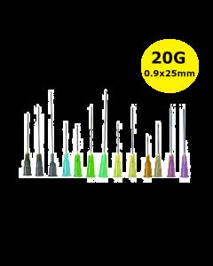 Aiguilles Microlance BD 20G 0,90x25mm Jaune, boîte de 100