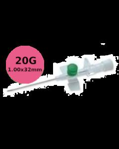 Cathéter à site d'injection à ailettes, VERSATUS W, 20G rose, 1,00x32mm, boîte de 50