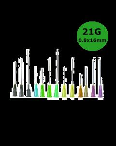 Aiguilles Microlance BD 21G 0,80x16mm Vert , boîte de 100