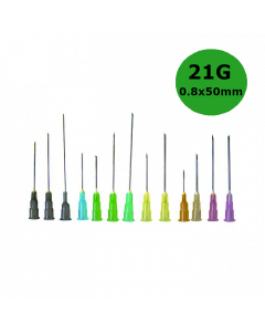 Aiguilles Microlance BD 21G 0,80x50mm Vert, boîte de 100