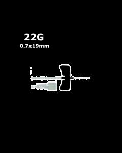 Microperfuseur à ailettes KDM, 22G, 0.7 x 19 mm, Noir