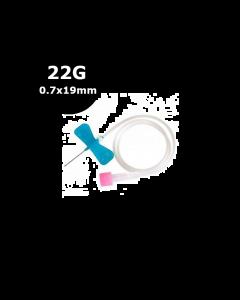 Microperfuseur à ailettes SURFLO, 22G, 0.7 x 19 mm, Noir Terumo, La boîte de 50