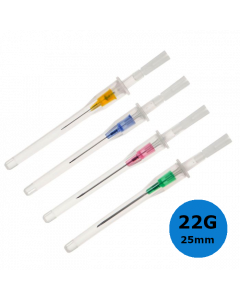 Cathéter court Introcan Certo, 22G 25mm, Bleu, B.Braun, la boîte de 50