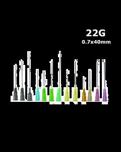 Aiguille BD MICROLANCE  22G x 1 1/4, 0.7 x 40mm, Noir, boîte de 100