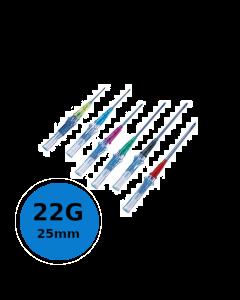 Cathéter court de sécurité Introcan Safety IV 22G 25mm Bleu, Boite de 50