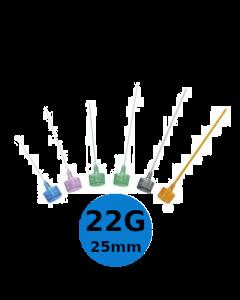 Mandrin / obturateur Introcan 22G 25mm, bleu, B.Braun, la boîte de 50