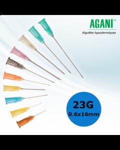 Aiguilles Agani Terumo 23G 0.6x16mm, Bleu, Boîte de 100