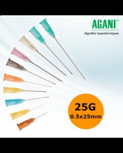 Aiguilles Agani Terumo 25G 0.5x25mm, Orange, Boîte de 100