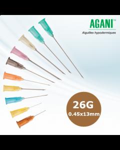 Aiguilles Agani Terumo 26G 0.45x13mm, Marron, Boîte de 100