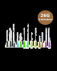 Aiguilles Microlance BD 26G 0,45x16mm Marron, boîte de 100
