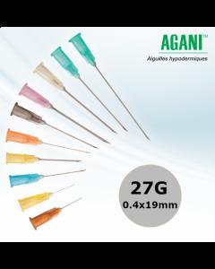 Aiguilles Agani Terumo 27G 0,4x19mm, Gris, Boîte de 100