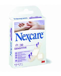 Nexcare sensitive soft kids - pansements décors animaux 19mm x 72mm, boîte de 20