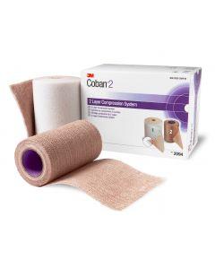Coban 2 3M™ - Système de compression 2 bandes pour ulcères veineux et oedèmes associés, Kit de 2