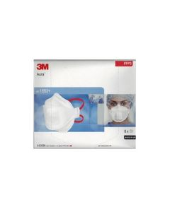 Face Masque 3M Aura type FFP3 avec valve protégée, boîte de 8