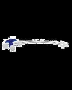 Prolongateurs 0,50M + robinet 3 voies LP, boîte de 100