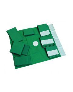 Champs de soins stériles, troués, avec adhésif  75 x 90 cm, orifice 7 x 12 cm, La boîte de 30