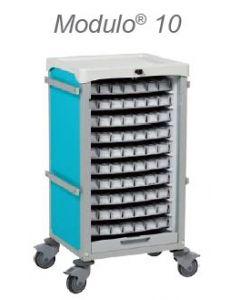 Chariot Modulo 10 plateaux de piluliers bleu - nu