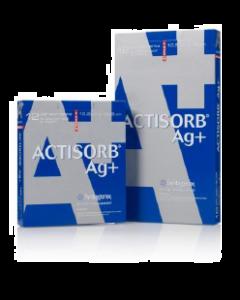 ACTISORB AG+ 10.5 x 10.5 cm bte de 12 pansements