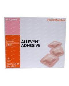 ALLEVYN ADHESIVE - Pansement adhésif pour plaie exsudative - 12,5cm x 12,5cm - La boîte de 16
