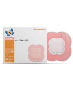 Allevyn Life : pansement hydrocellulaire composite adhésif avec gel siliconé 15.4cm x15.4cm , boîte de 16