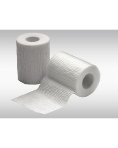 Bande cohésive élastique 8 cm x 400 cm, blanc