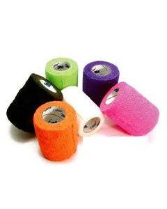 Bande de contention cohésive élastique Coban 3M Couleur Fluo (rose. orange. vert fluo. violet. blanc. noir) 7.5 cm x 450 cm, par 6 paires