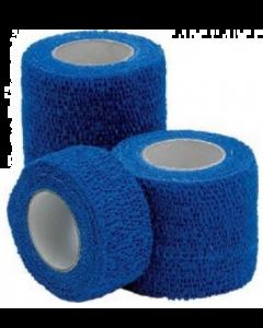 Bande cohésive élastique BLEUE Détectable 7.5cm x 450 cm