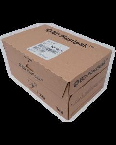 Seringue tuberculine BD Plastipak 1ml luer centré sans aiguille, boîte de 120