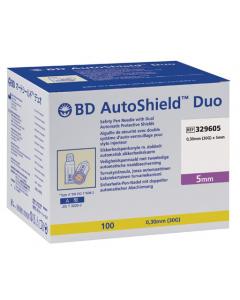 BD AUTOSHIELD™ DUO aiguille de sécurité pour stylo 5mm x 0,30mm (30G) , boîte de 100 pièces