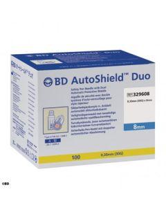 BD AUTOSHIELD™ DUO aiguille de sécurité pour stylo 8mm x 0,30mm (30G) , boîte de 100 pièces