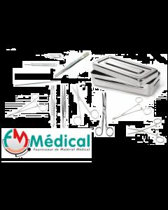 Boîte de petite chirurgie en Inox , 10 instruments chirurgicaux