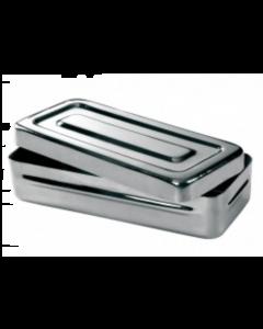 Boîte de stérilisation en inox 25 x 12 x 3 cm