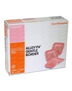 ALLEVYN Gentle Border - Pansement adhésif avec gel siliconé - 17,5cm x 17,5cm - La boite de 10