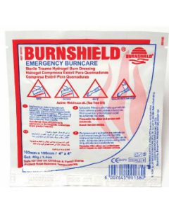 Burnshield 10x10cm compresse d'hydrogel