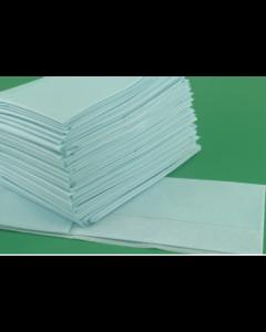Champs stériles non-tissé/PE, non troué, bleu, sans adhésif 75 cm x 45 cm , boîte de 90