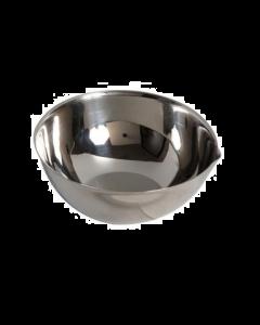 Cupule en inox avec bec et fond plat.Ø 100 mm cap. 310 ml
